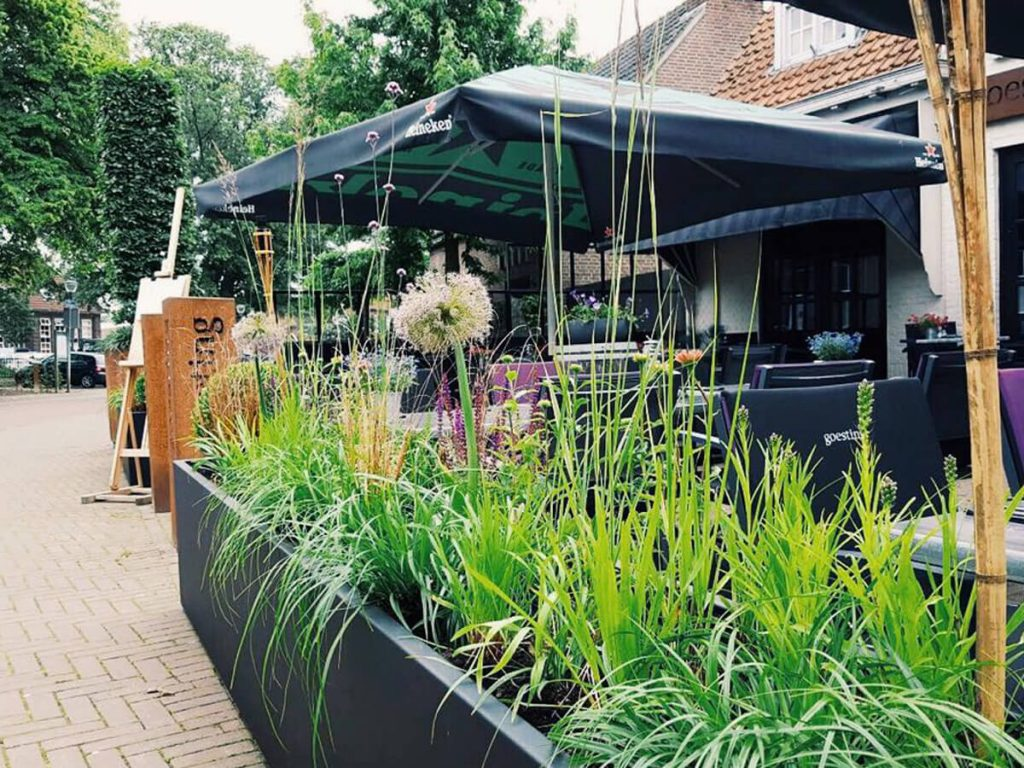 Terrasbeplanting Restaurant Goesting Nuenen
